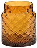 1x Offizielles Yankee Candle Deco Lounge Jacquard Bernstein groß Jar Sleeve Kerzenhalter Dekoration Ornament Glas Zubehör