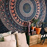 New Indian Elephant Peacock Mandala Tapestry ,Indian Hippie Tapestry, Wall Hanging,Bohemian Wall Hanging,New Age Tapestry,Mandala Typestry